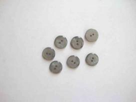 Kunststof knoop glanzend glad Grijs 15mm. 441-S14