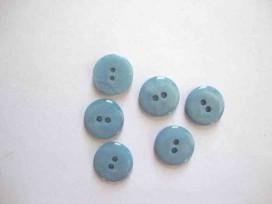5s Kunststof knoop glanzend glad Blue 18mm. 448-S14