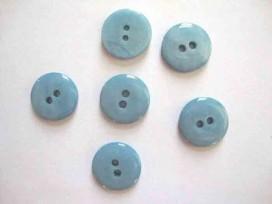 Kunststof knoop glanzend glad Blue 22mm. 449-S14