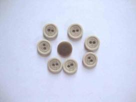 Kunststof knoop mat met cirkel Zand 15mm. 465-S15