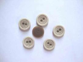 5j Kunststof knoop mat met cirkel Zand 18mm. 466-S15