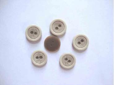 Kunststof knoop mat met cirkel Zand 18mm. 466-S15