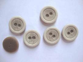 Kunststof knoop mat met cirkel Zand 22mm. 467-S15