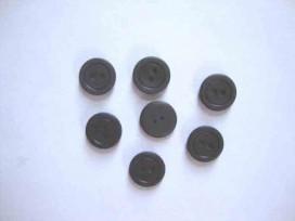 Kunststof knoop mat met cirkel Donkerbruin 12mm. 468-S15