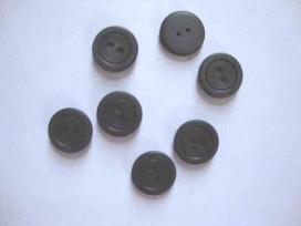 Kunststof knoop mat met cirkel Donkerbruin 15mm. 469-S15