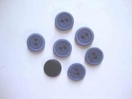 Kunststof knoop mat met cirkel Jeansblauw 18mm. 472-S15