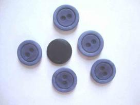 Kunststof knoop mat met cirkel Jeansblauw 22mm. 473-S15