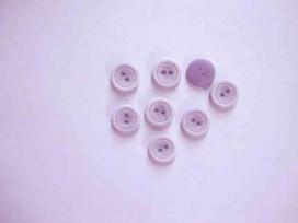 Kunststof knoop mat met cirkel Lila 12mm. 474-S15