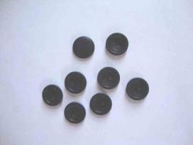 Kunststof knoop mat met cirkel Zwart 15mm. 478-S15