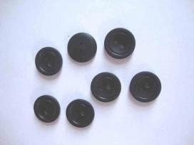 Kunststof knoop mat met cirkel Zwart 18mm. 479-S15