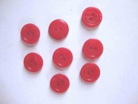 Kunststof knoop mat met cirkel Rood 18mm. 482-S15