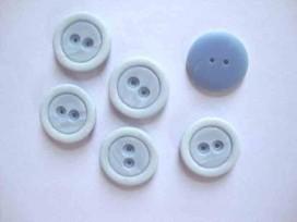 Kunststof knoop mat met cirkel Lichtblauw 22mm. 488-S15