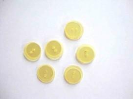 Kunststof knoop dubbel Geel 18mm. 606-S16