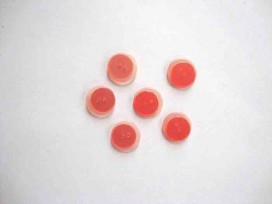 Kunststof knoop dubbel Oranje 15mm. 610-S16