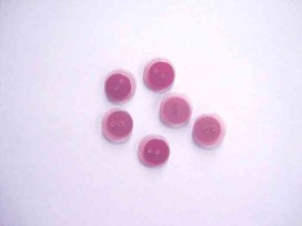 Kunststof knoop dubbel Fuchsia 15mm. 613-S16