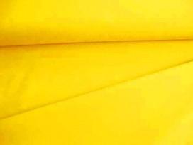 Mooie redelijk soepele kwaliteit kanariegele keperkatoen.  65%katoen35%poly  1.50 mtr.br.