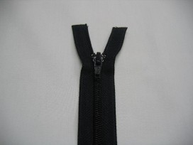 Deelbare fijne rits donkerblauw. 150 cm. lang