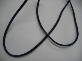 1e Donkerblauw koord elastiek