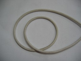 Koord elastiek Offwhite 3 mm.