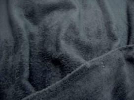 Zeer zachte en soepele donkerblauwe wellness fleece, geschikt voor kleding en hobby .100% polyester 1.50 mtr . br. 260 gr./M2
