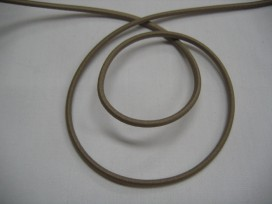 1i Donker zandkleurig koord elastiek 708