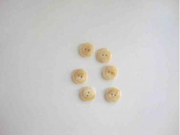 Kunststof knoop glanzend gemeleerd met cirkel Creme 15 mm. 630-S17