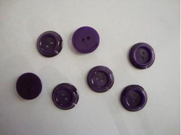 Kunststof knoop in 2 maten Bordeaux met rand 18 mm