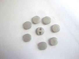 Kunststof knoop in 2 maten Glad Grijs 15 mm. kk2m-1008