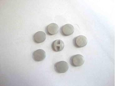 Kunststof knoop in 2 maten Glad Grijs 15 mm.