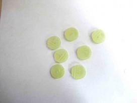 Kunststof knoop in 2 maten Lichtlime met ribbel 18 mm. kk2m-1010