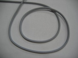 Koord elastiek Lichtgrijs per meter