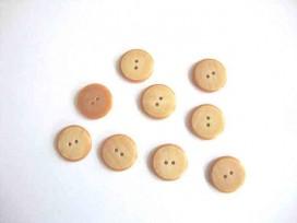 Kunststof knoop in 2 maten Camel 2-gaats gemeleerd 18 mm. kk2m-1020
