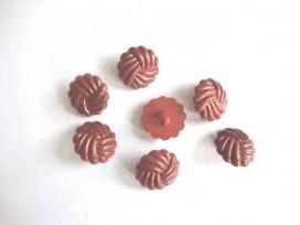 Kunststof knoop in 2 maten Bruin gevlochten 15 mm. kk2m-1026