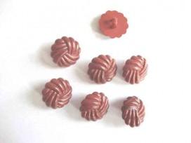 Kunststof knoop in 2 maten Bruin gevochten 22 mm. kk2m-1027