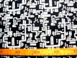Katoen Straathuisje TST Zwart Wit 9306-69N