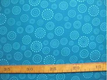 Katoen Stip en cirkel TST Petrol Aqua 9308-24N