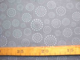 Katoen Stip en cirkel TST Donkergrijs Grijs 9308-63N