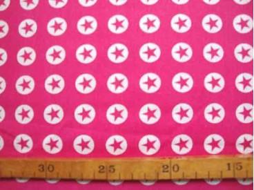 5b Katoen Nooteboom Cirkel/Ster Pink 9302-17N