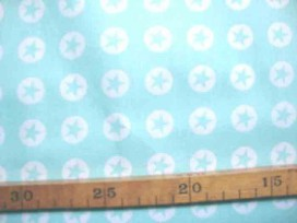 Katoen Nooteboom Cirkel Ster Mintgroen 9302-22N
