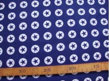 Katoen Nooteboom Cirkel Ster Donkerblauw 9302-8N