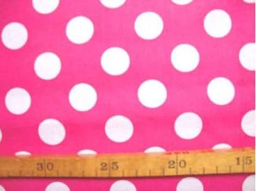 5c Katoen Nooteboom Grote Stip Pink 9301-17N