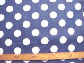 Katoen Nooteboom Grote Stip Donkerblauw 9301-8N