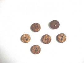 Natuurknoop Kokos Rond 16 mm.