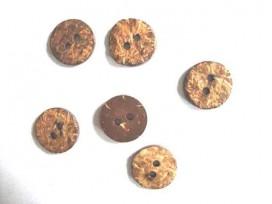 Natuurknoop Kokos Rond 20 mm.
