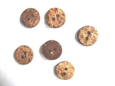 5c Natuurknoop Kokos Rond 22 mm. kk302
