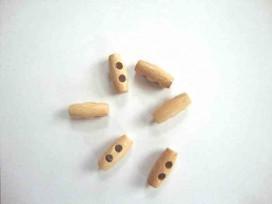 Houtje/touwtje knoop 2-gaats Hout 20 mm. ht-20