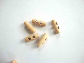Houtje/touwtje knoop 2-gaats Hout 25 mm. ht-25