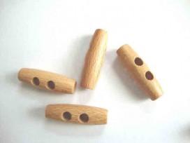 Houtje/touwtje knoop 2-gaats Hout 40 mm. ht-40
