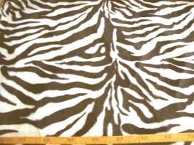 5fa Dierenprint Velboa Zebra Bruin 4511-52N