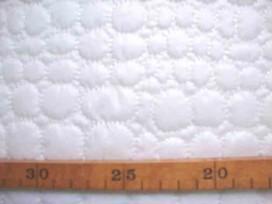 5w Gewatteerde voering Wit met cirkels 6198-50U